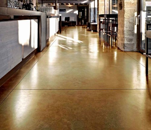 Acid Stains Floors - Waldec Coatings